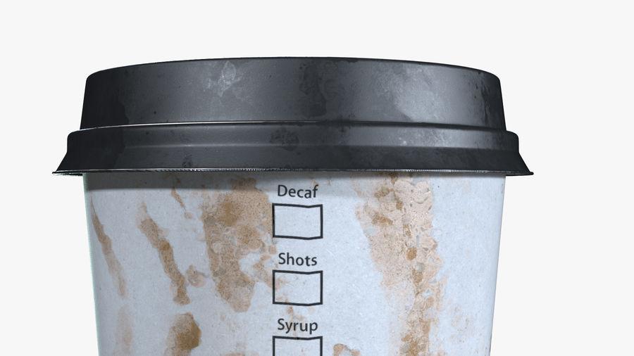 Papieren koffiekopje vies royalty-free 3d model - Preview no. 6