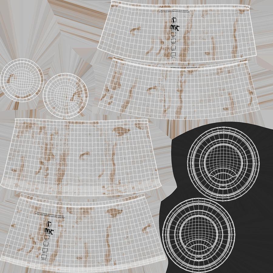Papieren koffiekopje vies royalty-free 3d model - Preview no. 14