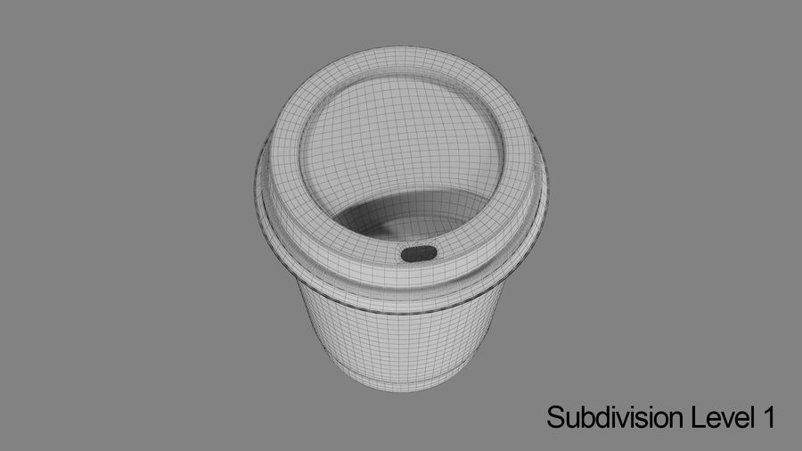 Papieren koffiekopje vies royalty-free 3d model - Preview no. 10