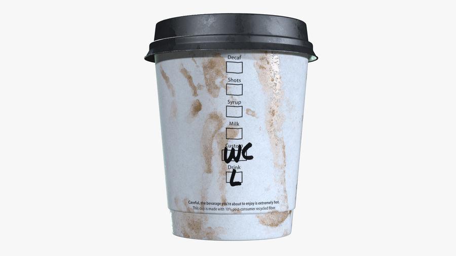 Papieren koffiekopje vies royalty-free 3d model - Preview no. 5