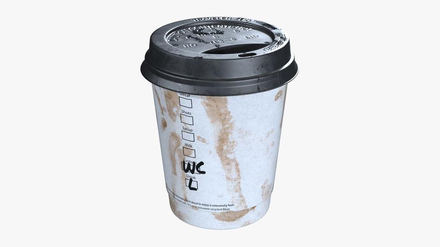 Papieren koffiekopje vies royalty-free 3d model - Preview no. 2