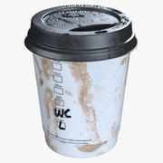 Paper Coffee Cup Dirty 3d model