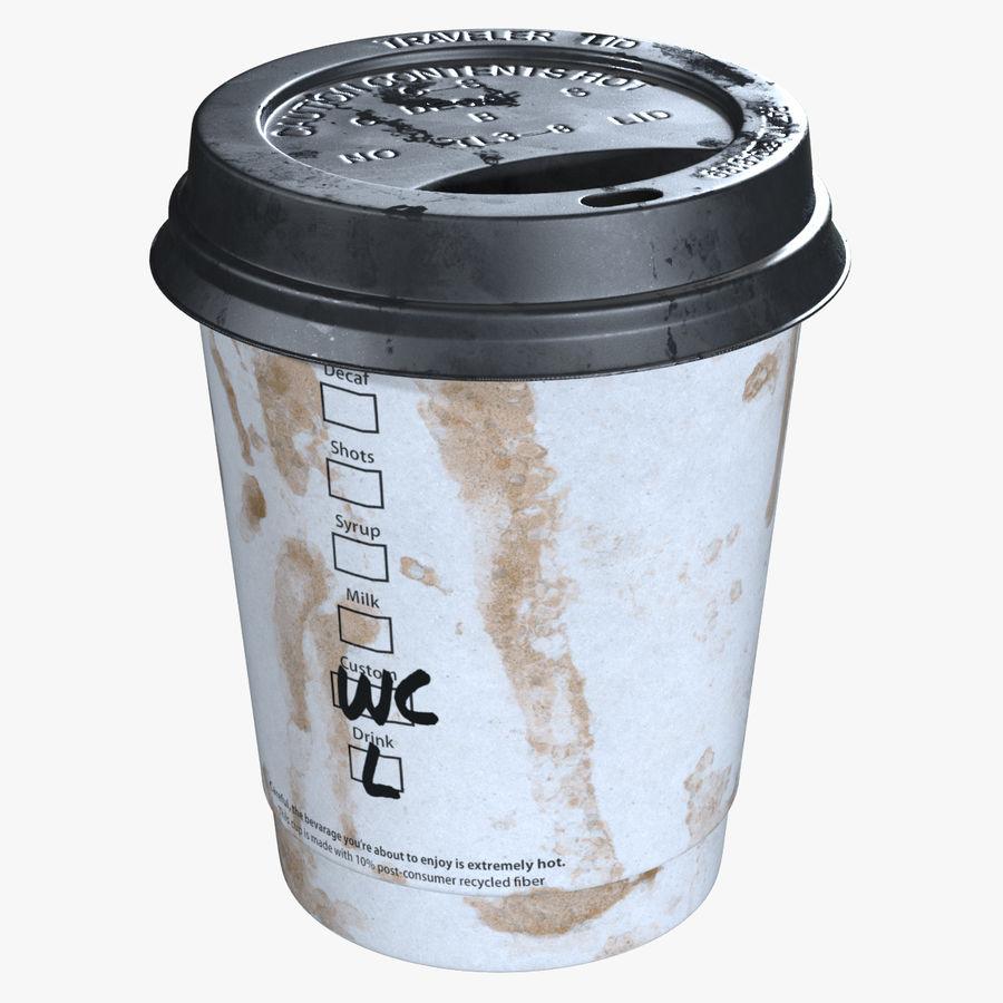 Papieren koffiekopje vies royalty-free 3d model - Preview no. 1