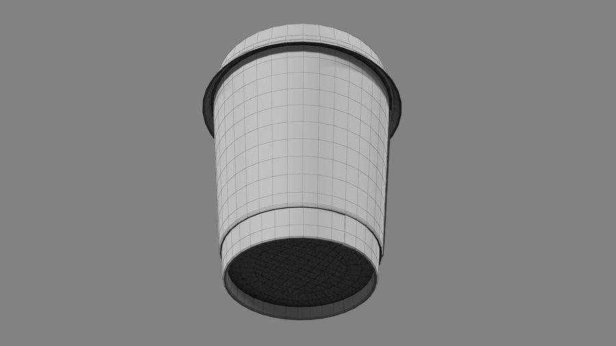 Papieren koffiekopje vies royalty-free 3d model - Preview no. 11