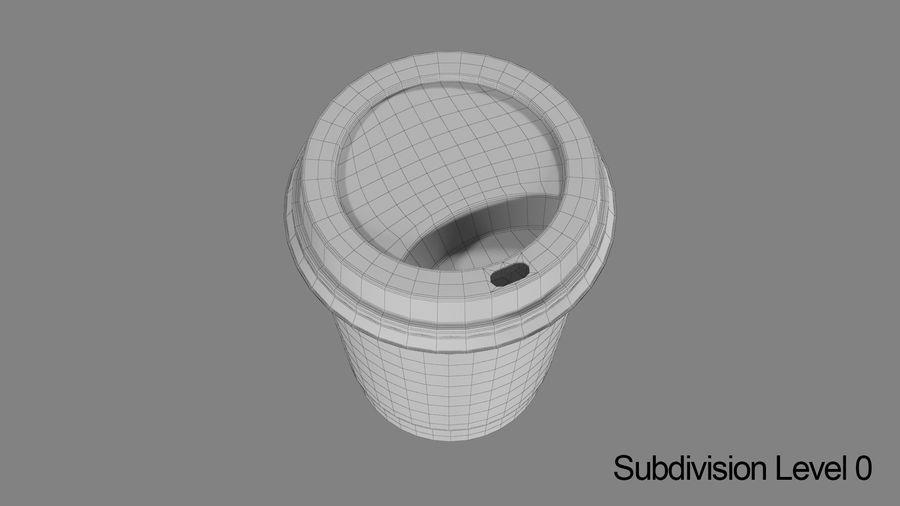 Papieren koffiekopje royalty-free 3d model - Preview no. 10