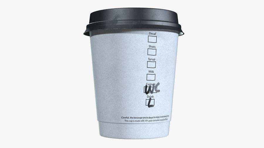Papieren koffiekopje royalty-free 3d model - Preview no. 5