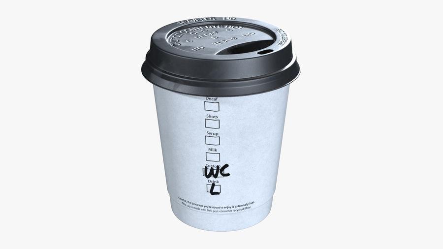 Papieren koffiekopje royalty-free 3d model - Preview no. 2