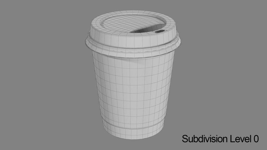Papieren koffiekopje royalty-free 3d model - Preview no. 7