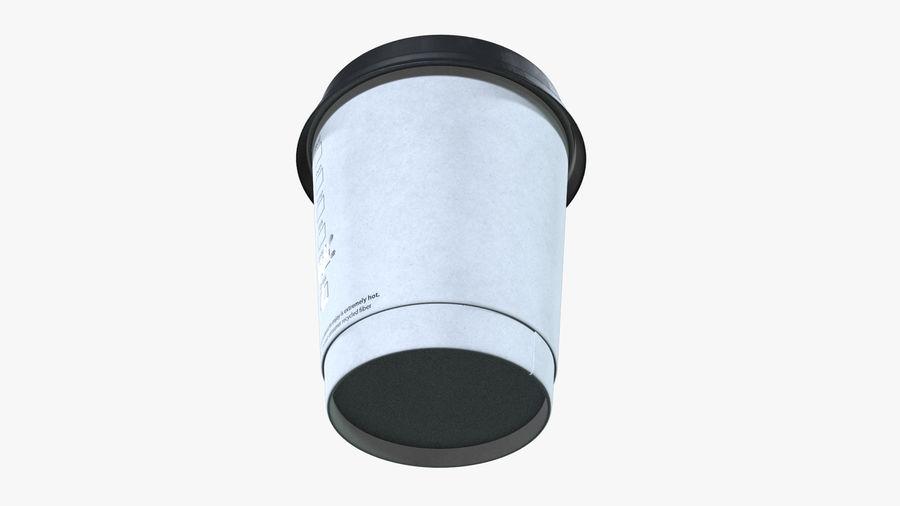Papieren koffiekopje royalty-free 3d model - Preview no. 4