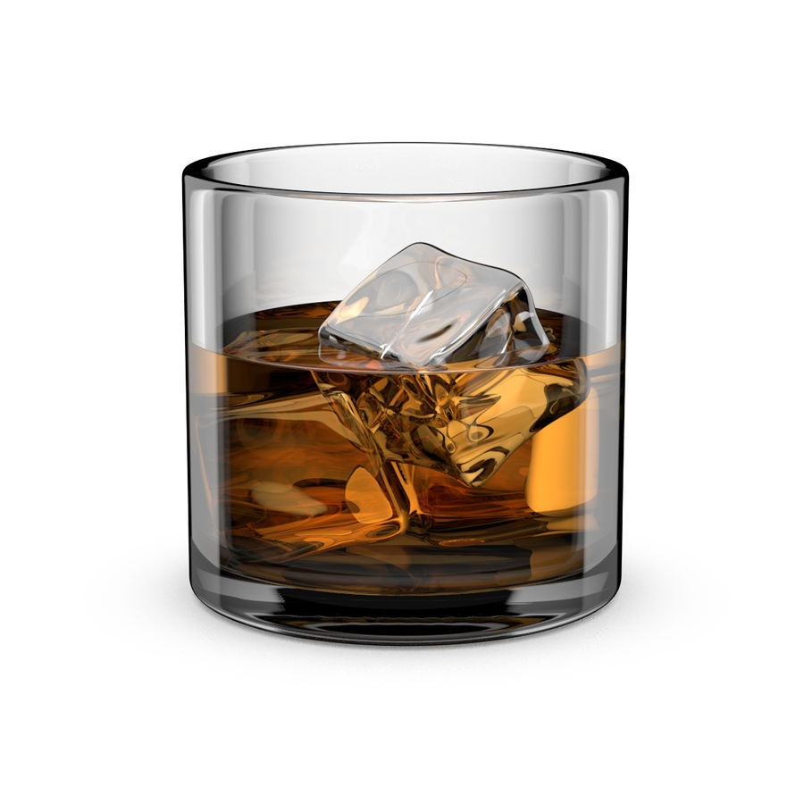 Whiskey Glass Round royalty-free 3d model - Preview no. 1