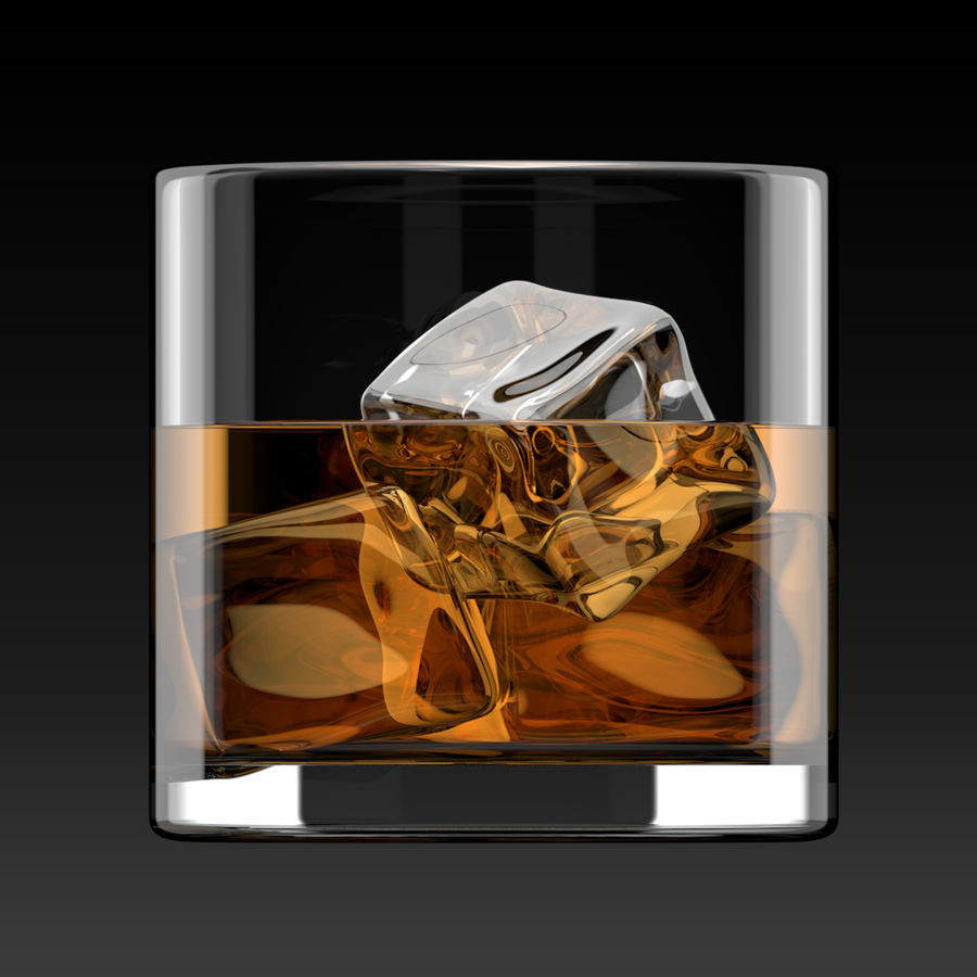 Whiskey Glass Round royalty-free 3d model - Preview no. 4