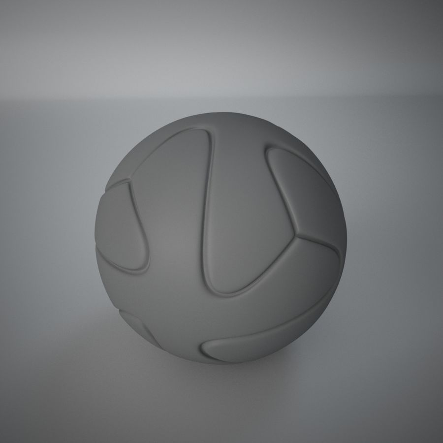 3D可打印足球火箭筒球饰品 royalty-free 3d model - Preview no. 4
