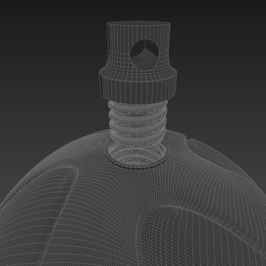 3D可打印足球火箭筒球饰品 royalty-free 3d model - Preview no. 5