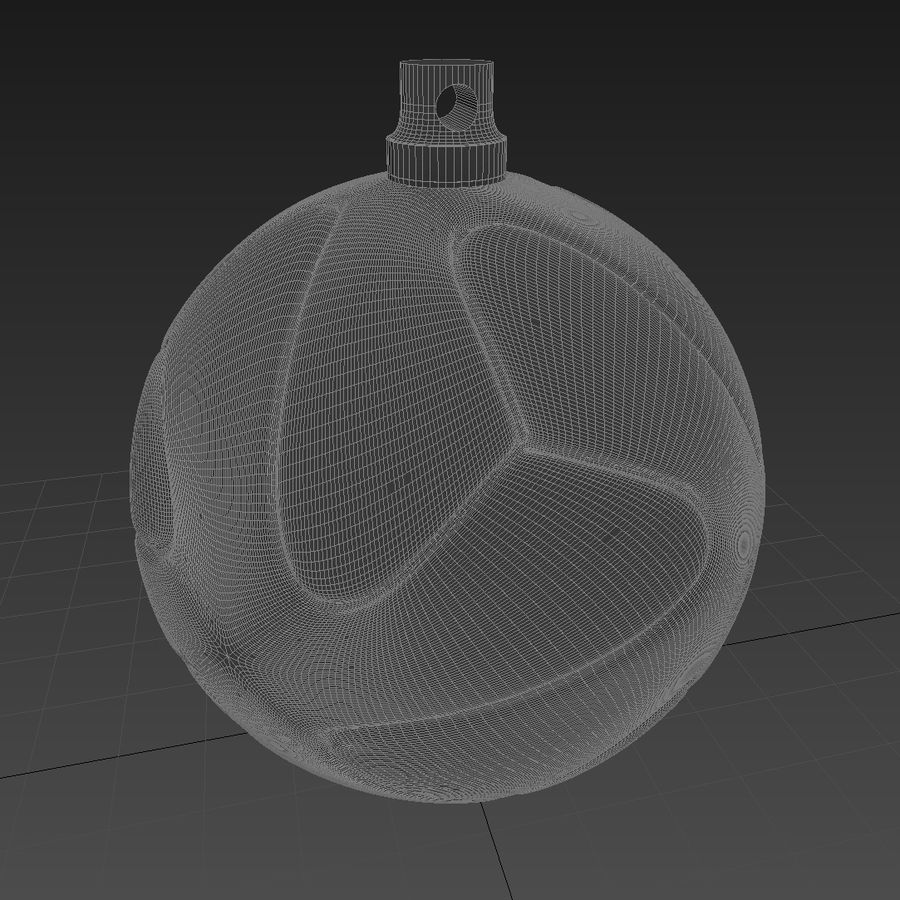 3D可打印足球火箭筒球饰品 royalty-free 3d model - Preview no. 6