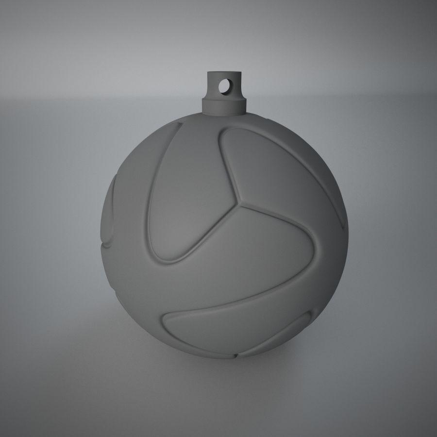 3D可打印足球火箭筒球饰品 royalty-free 3d model - Preview no. 2