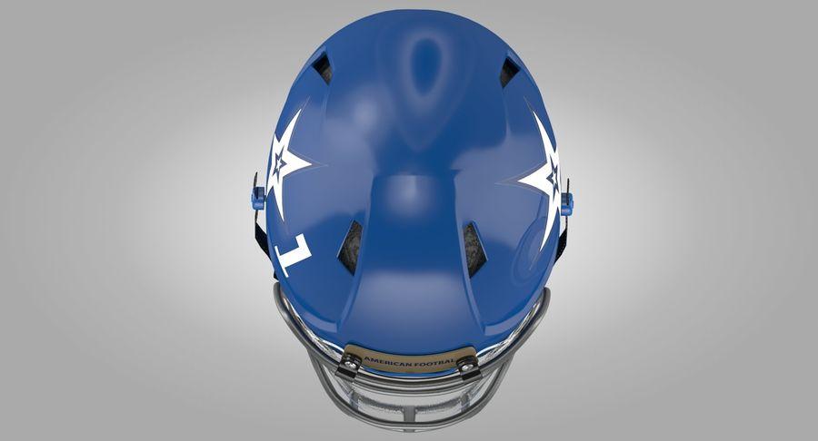 Американский футбольный шлем royalty-free 3d model - Preview no. 8