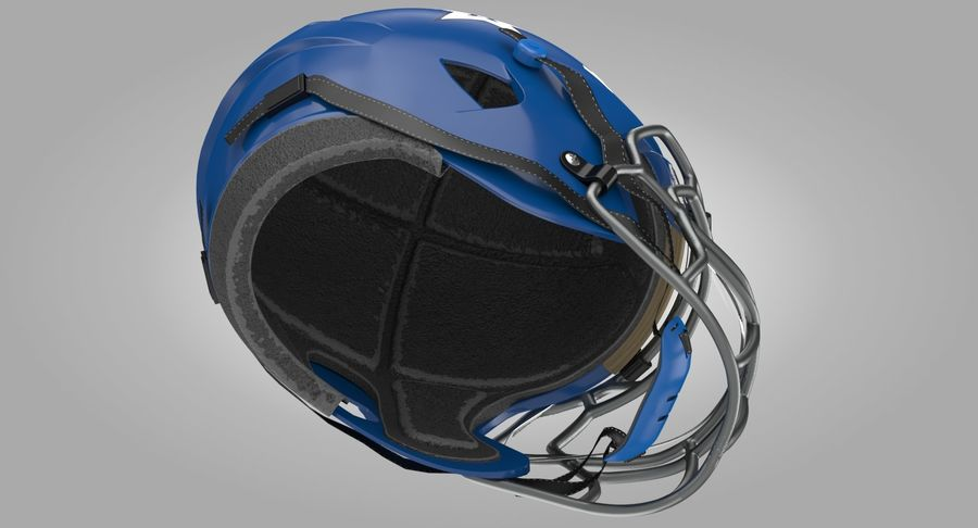 Американский футбольный шлем royalty-free 3d model - Preview no. 4