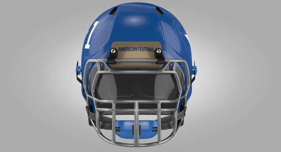 Американский футбольный шлем royalty-free 3d model - Preview no. 7