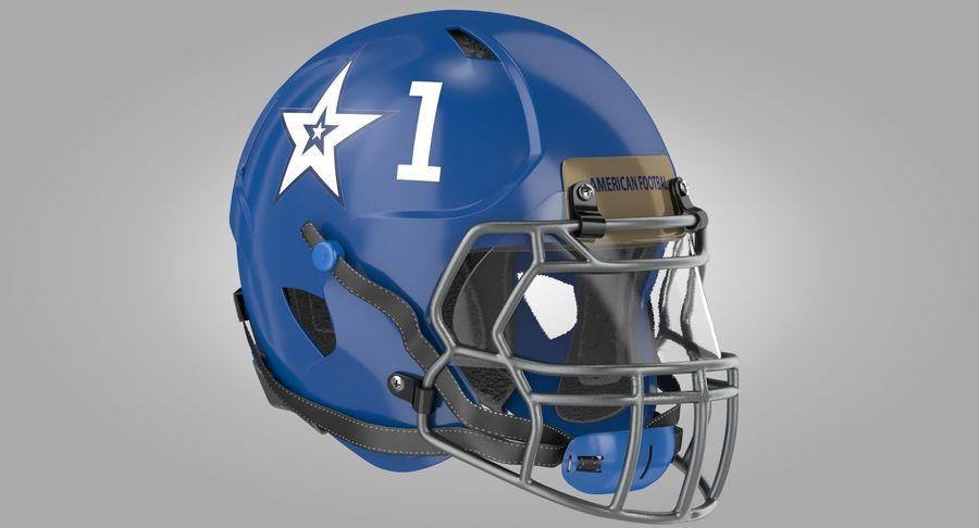 Американский футбольный шлем royalty-free 3d model - Preview no. 3