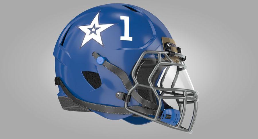 Американский футбольный шлем royalty-free 3d model - Preview no. 2