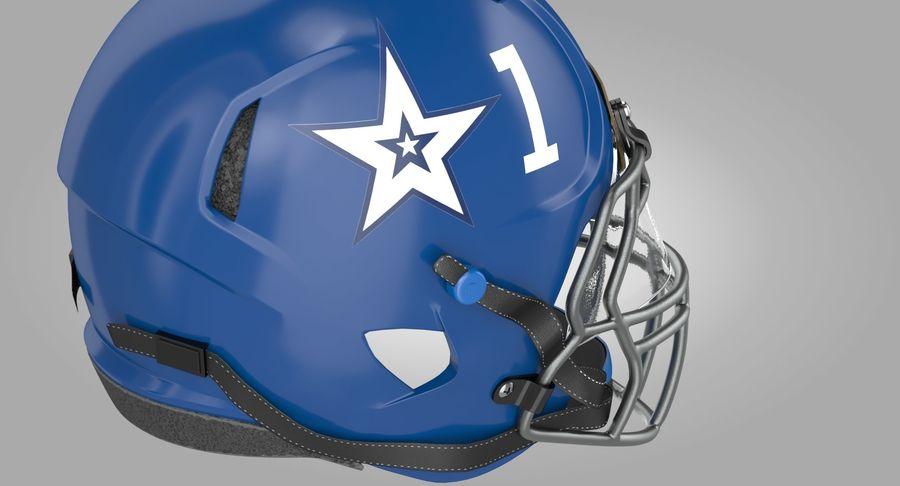 Американский футбольный шлем royalty-free 3d model - Preview no. 6