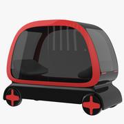Electric Shuttle Car 3D Model 3d model