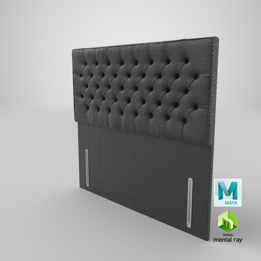Headboard 01 Charcoal royalty-free 3d model - Preview no. 17