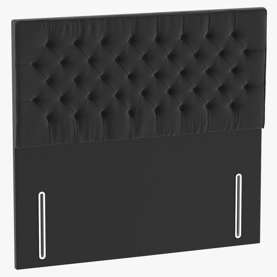 Headboard 01 Charcoal royalty-free 3d model - Preview no. 1