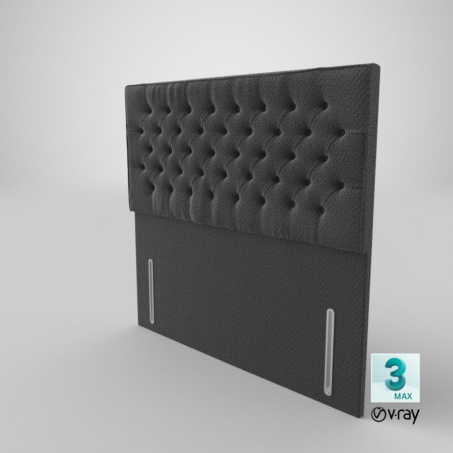 Headboard 01 Charcoal royalty-free 3d model - Preview no. 15