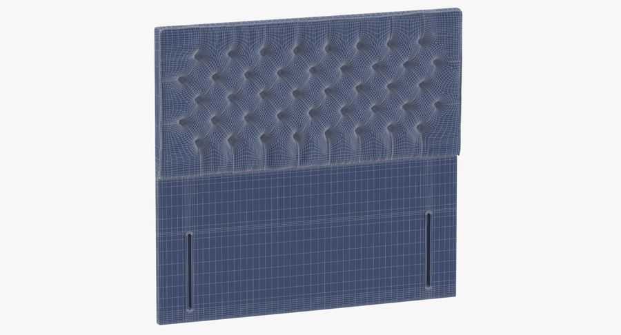 Headboard 01 Charcoal royalty-free 3d model - Preview no. 10