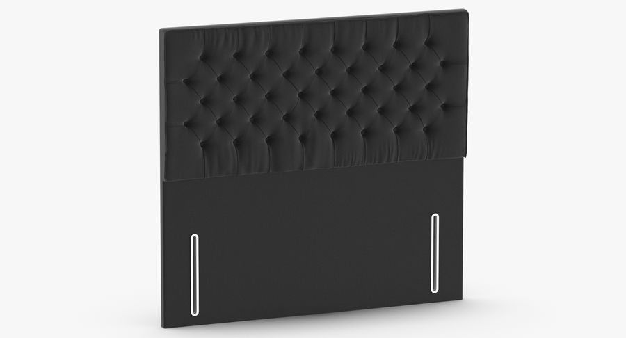 Headboard 01 Charcoal royalty-free 3d model - Preview no. 3