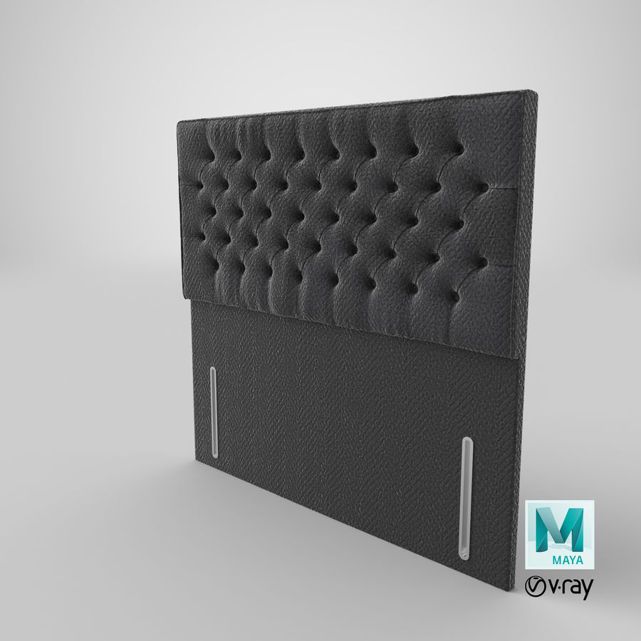 Headboard 01 Charcoal royalty-free 3d model - Preview no. 18