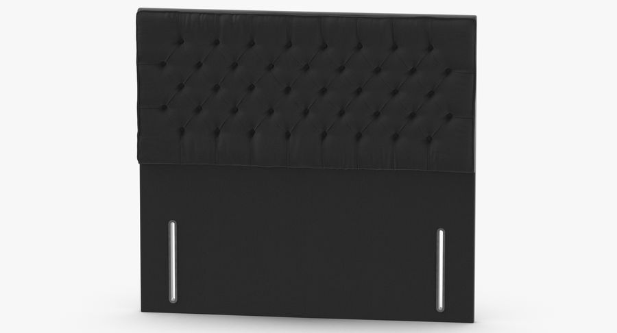 Headboard 01 Charcoal royalty-free 3d model - Preview no. 5
