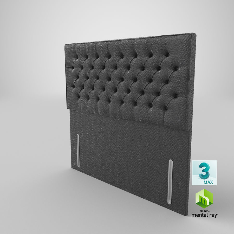 Headboard 01 Charcoal royalty-free 3d model - Preview no. 14