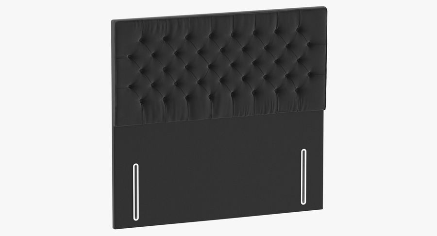 Headboard 01 Charcoal royalty-free 3d model - Preview no. 2