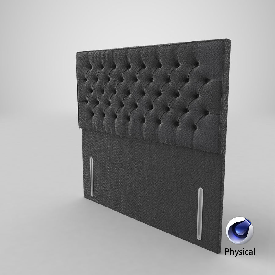 Headboard 01 Charcoal royalty-free 3d model - Preview no. 11