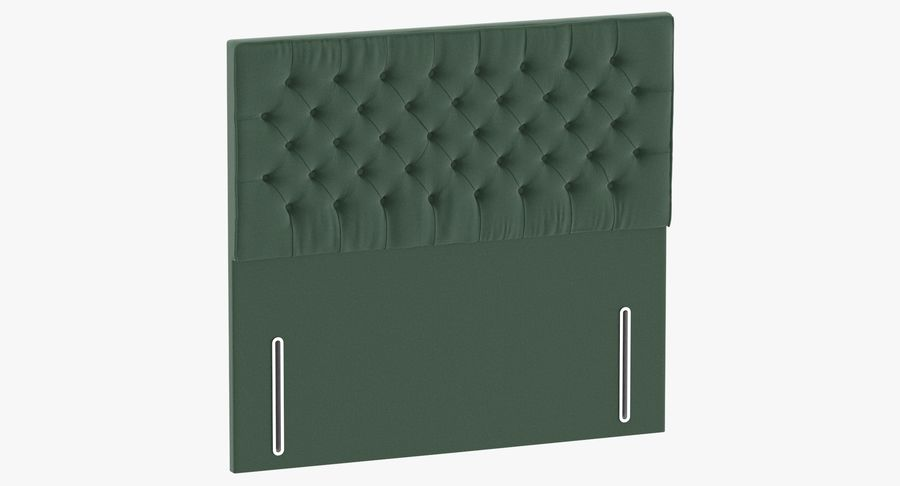 Headboard 01 Mint royalty-free 3d model - Preview no. 2