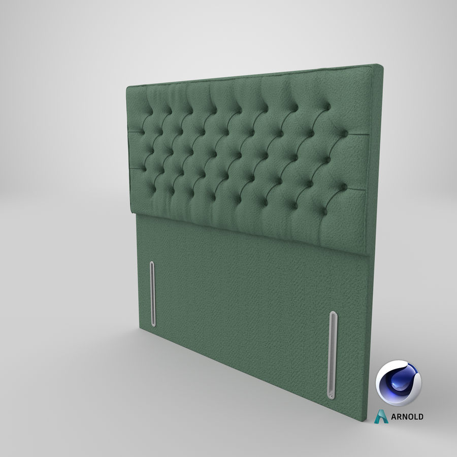 Headboard 01 Mint royalty-free 3d model - Preview no. 22