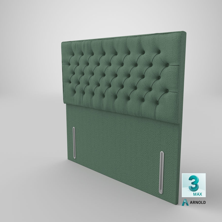 Headboard 01 Mint royalty-free 3d model - Preview no. 23