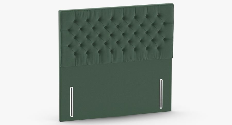 Headboard 01 Mint royalty-free 3d model - Preview no. 3