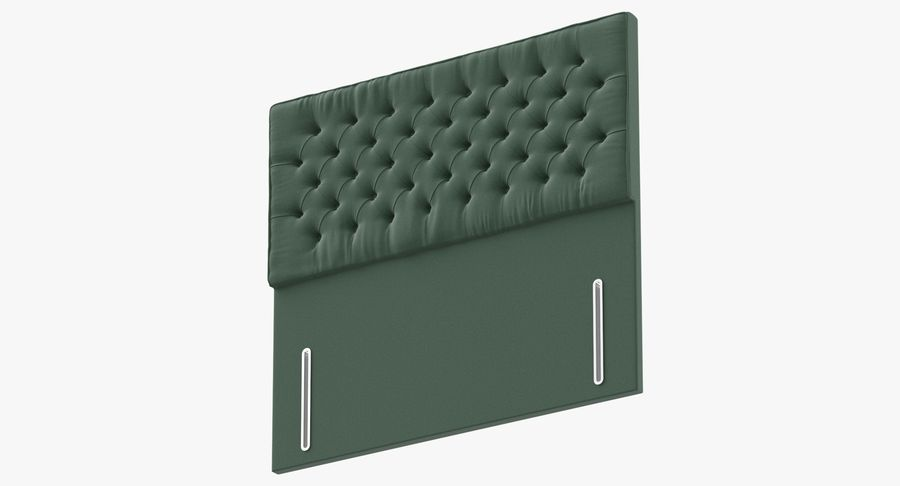 Headboard 01 Mint royalty-free 3d model - Preview no. 9