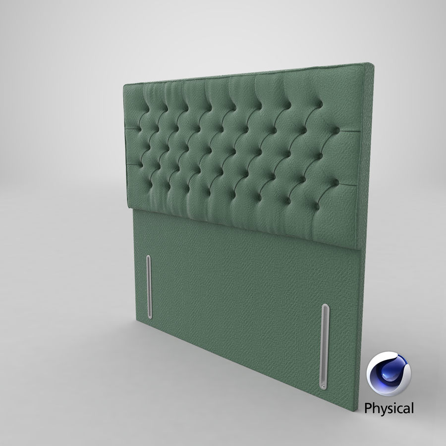 Headboard 01 Mint royalty-free 3d model - Preview no. 21