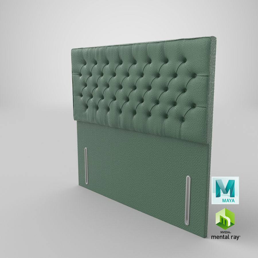 Headboard 01 Mint royalty-free 3d model - Preview no. 27