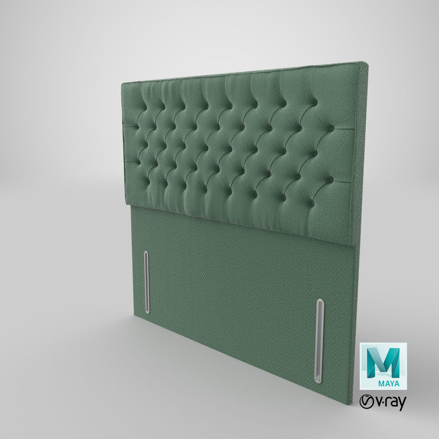 Headboard 01 Mint royalty-free 3d model - Preview no. 28