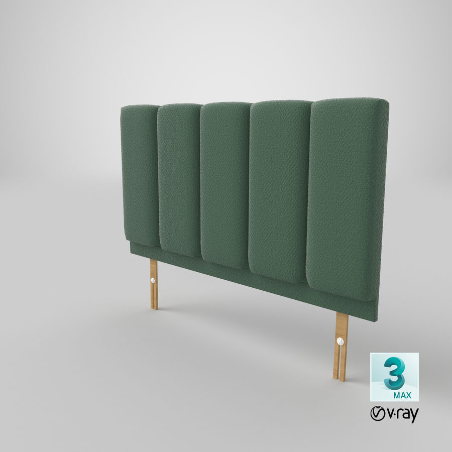Headboard 02 Mint royalty-free 3d model - Preview no. 26