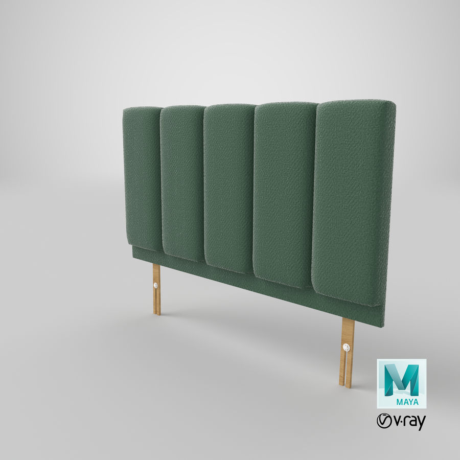 Headboard 02 Mint royalty-free 3d model - Preview no. 29