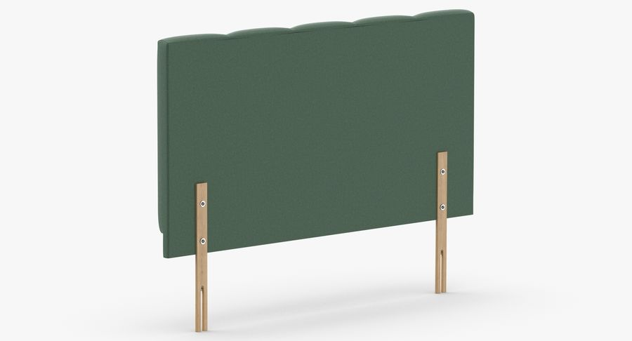 Headboard 02 Mint royalty-free 3d model - Preview no. 6