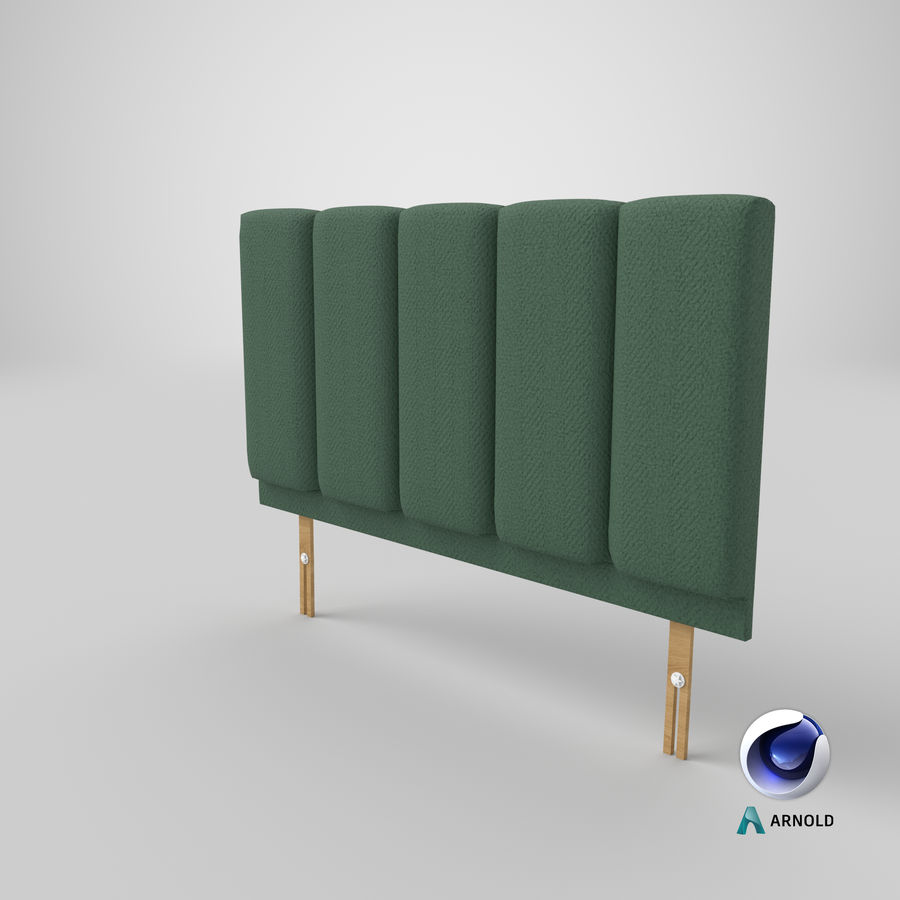 Headboard 02 Mint royalty-free 3d model - Preview no. 23