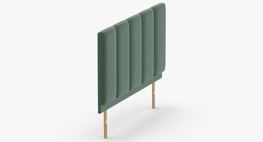 Headboard 02 Mint royalty-free 3d model - Preview no. 4