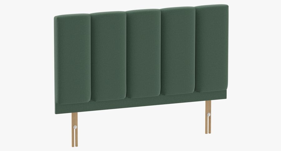 Headboard 02 Mint royalty-free 3d model - Preview no. 2